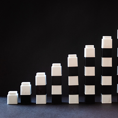 building blocks with consecutively larger stacks